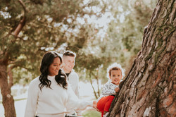 child climbing tree candid photo christmas holiday photo family photography los angeles california