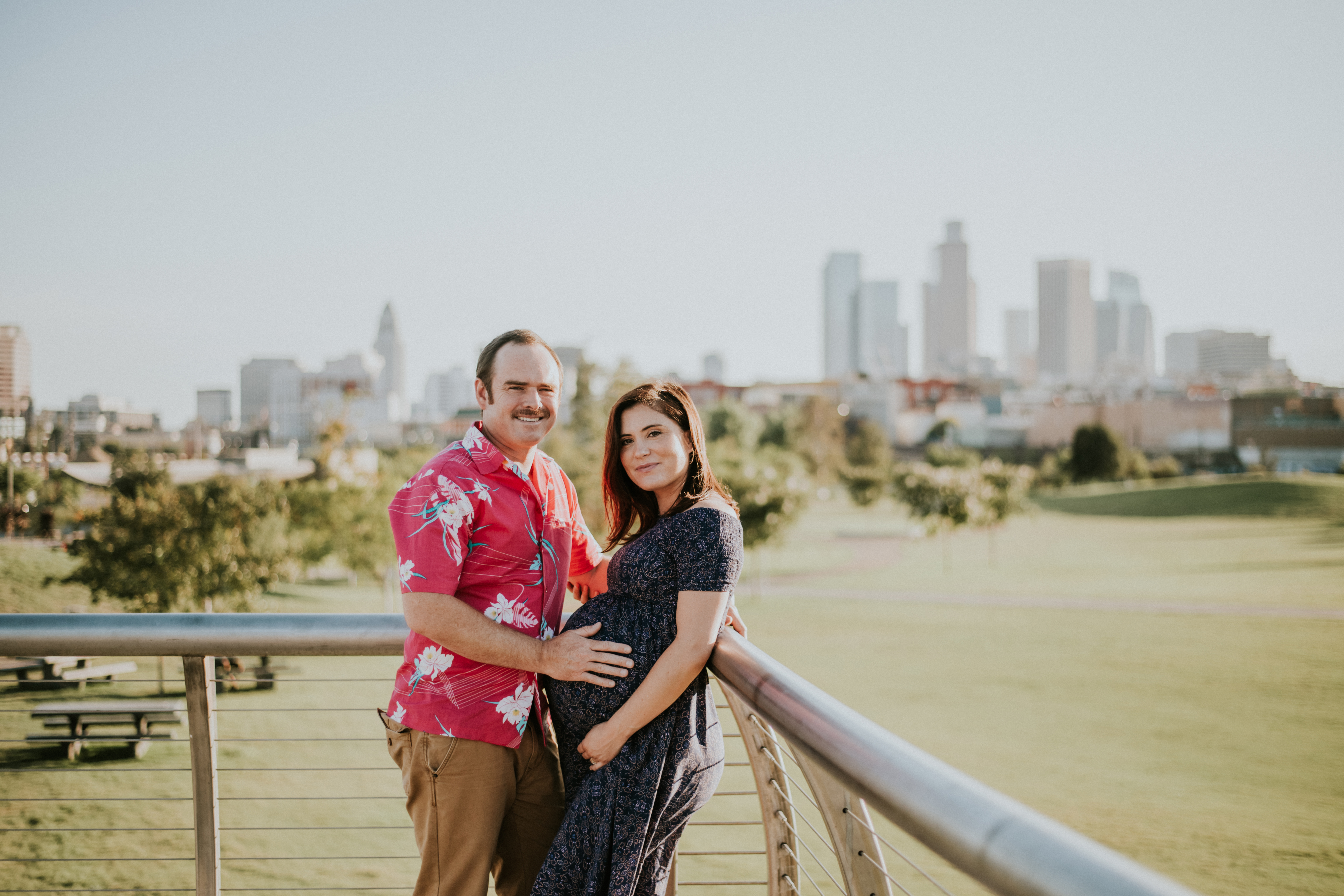 couple in downtown pregnancy photos maternity photography los angeles california