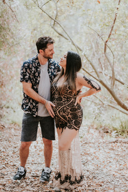 couple in woods pregnancy photos maternity photography los angeles california