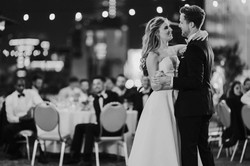 bride and groom rooftop wedding first dance black and white photography wedding day wedding photogra