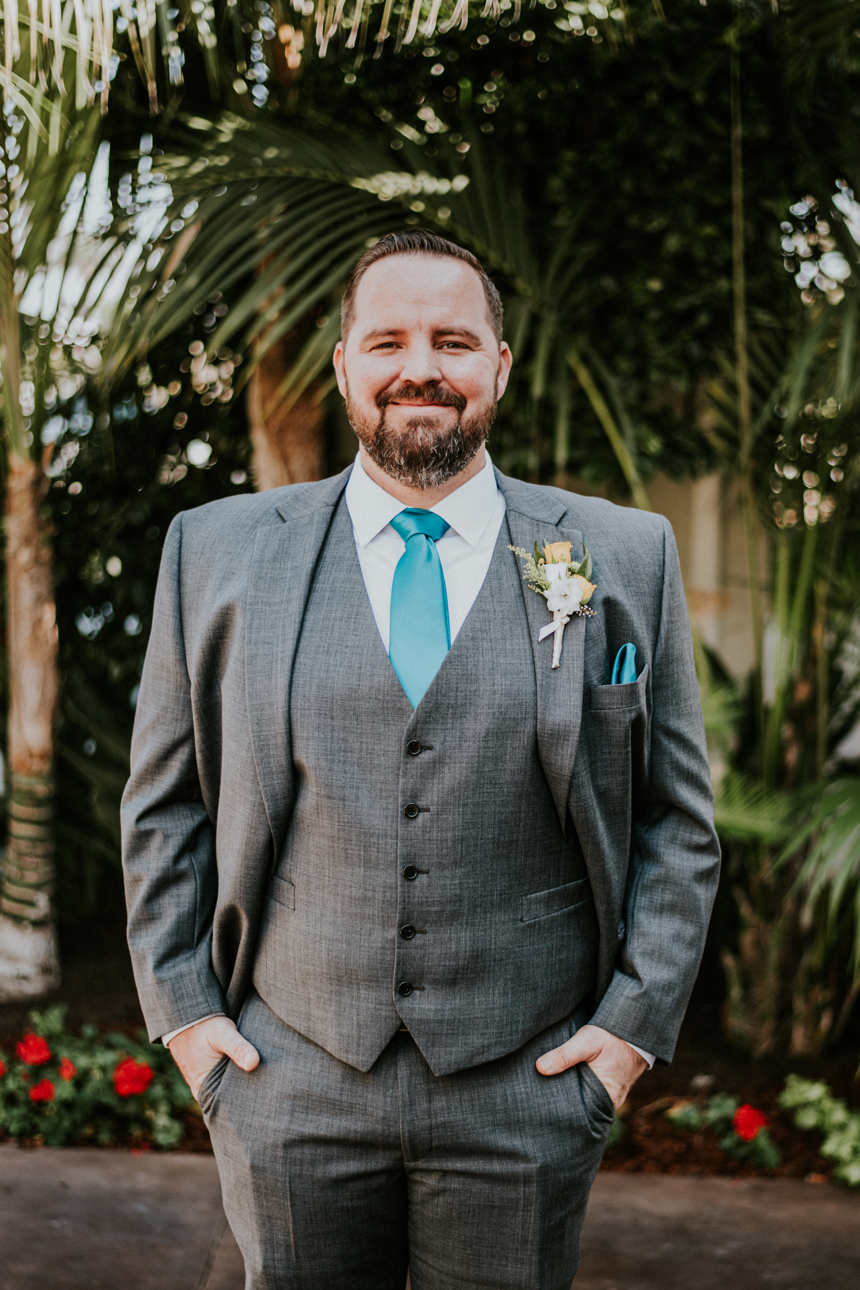 groom posed in suit wedding day photography california wedding
