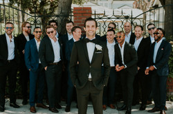 groom with groomsmen bridal party wedding photography los angeles