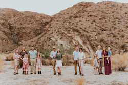 multi generation family photos in the desert social distancing family photography california