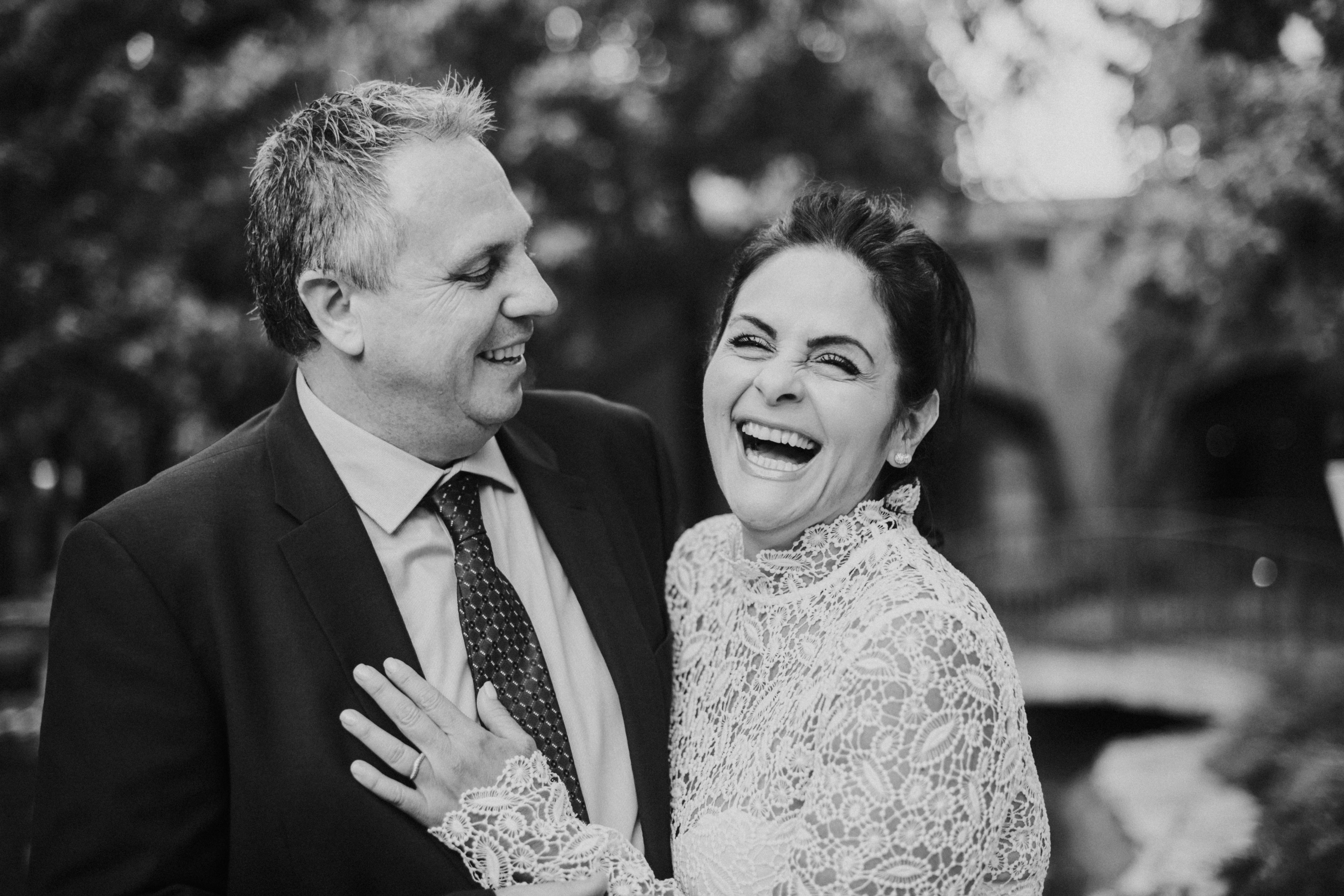 bride and groom laughing candid wedding day photography at the langham pasadena california