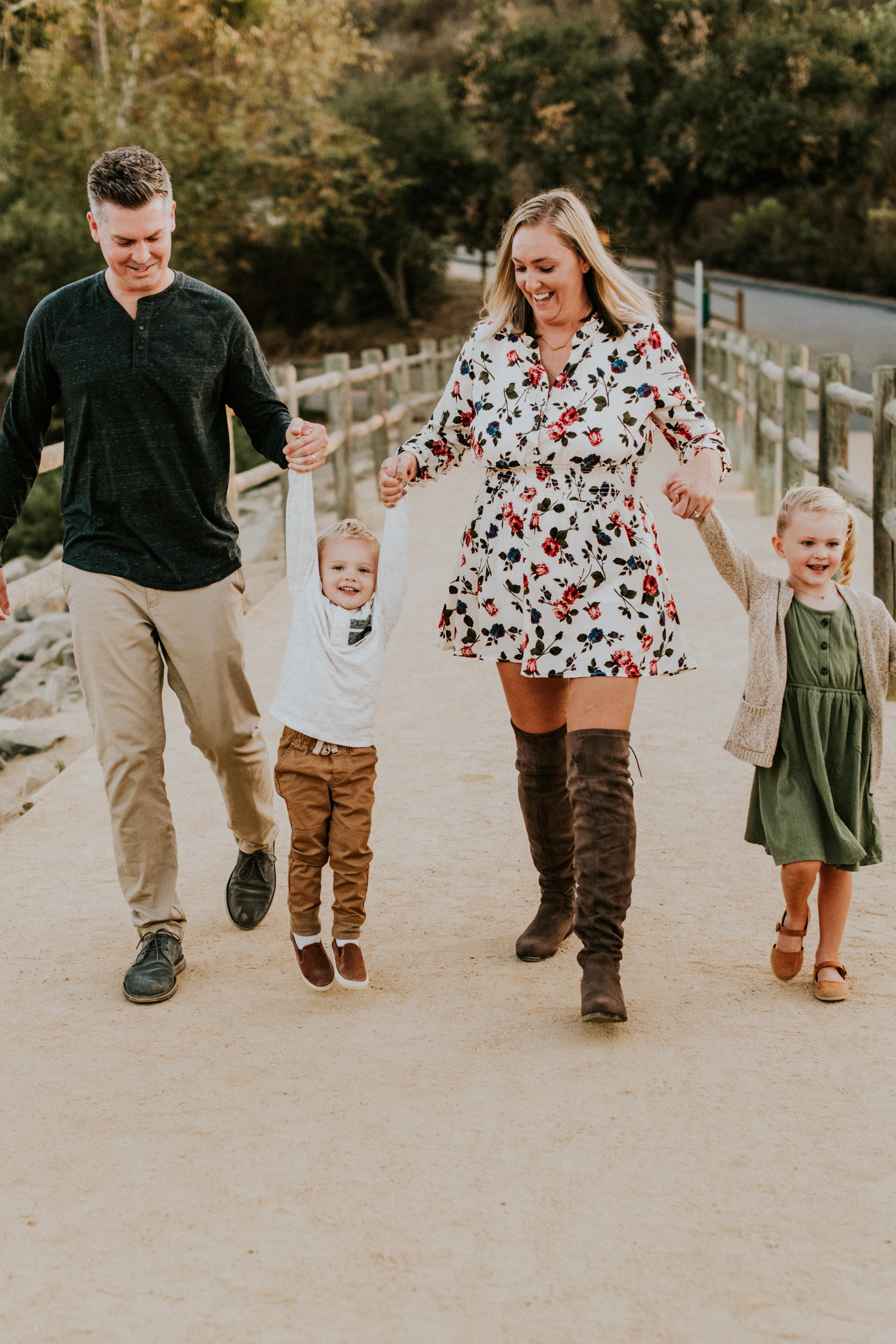 family walking holding hands fall photos family photography los angeles california