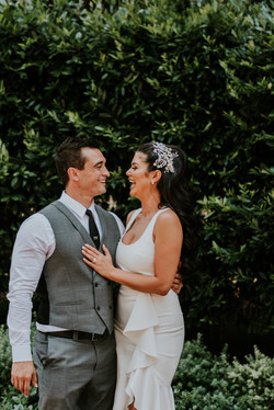 bride and groom laughing candid courthouse small wedding day photography california wedding photogra