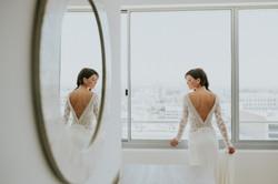 bride in wedding dress portrait wedding photography los angeles