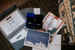 invitation suite and wedding rings detail photography wedding day wedding photography the hollywood