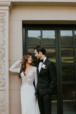 bride and groom posed wedding day photography los angeles