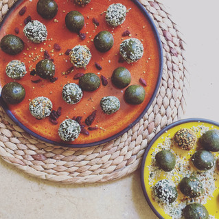 Raw Matcha Energy Balls.