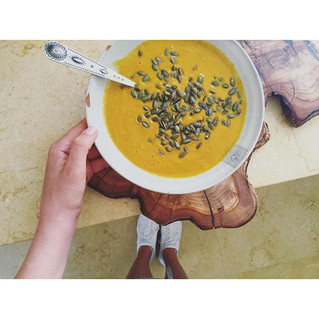 Pumpkin soup pure.