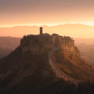 Italy - Civita di Bagnoregio, Warm Light