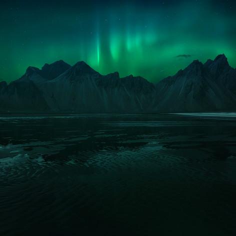 Iceland - Vestrahorn Northern Light