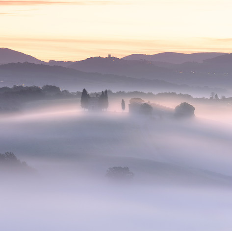 Italy - Tuscany, Morning Fog