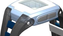 CAD model - strap attachment detail