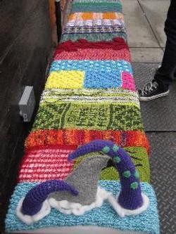 La Casita Yarn Shop and Cafe Bench