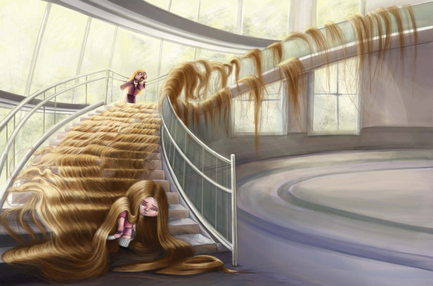 Claire's Hair Staircase