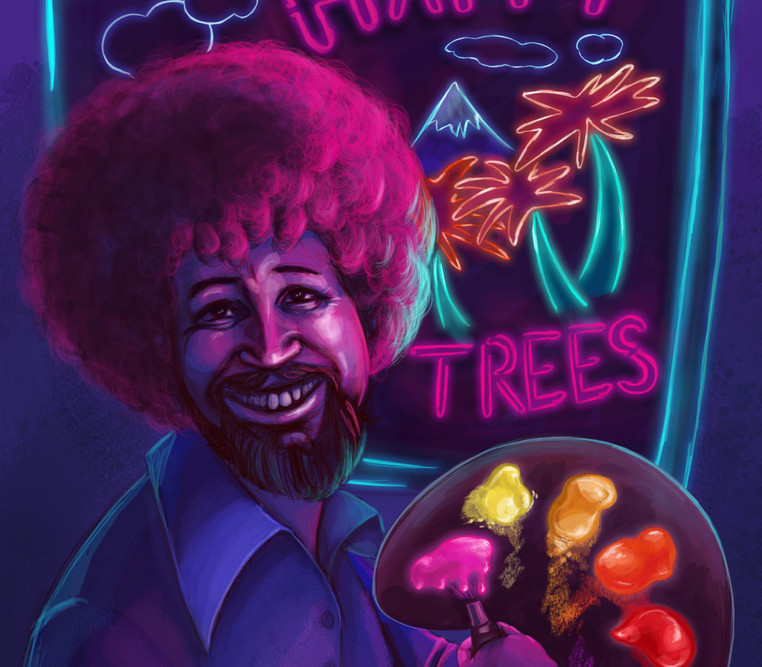 Neon Bob Ross