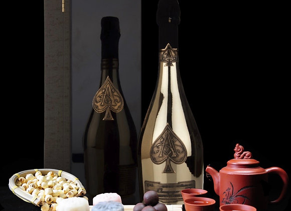 Lady Chang'er Snow Skin Chuao Criollo infused with Ace of Spades Champagne