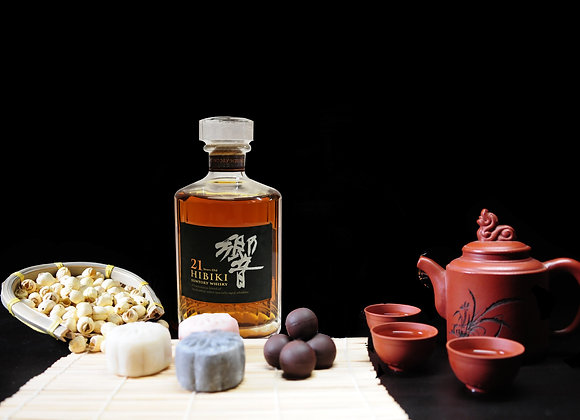 Lady Chang'er Snow Skin Chuao Criollo infused 21 Yr Old Hibiki Whisky Mooncake