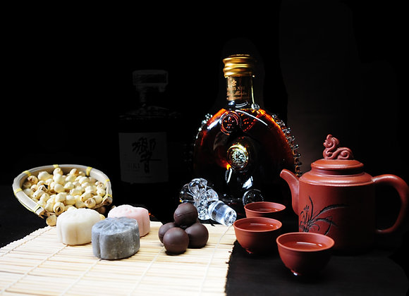 Lady Chang'er Snow Skin Chuao Criollo infused with Louis XIII Mooncake