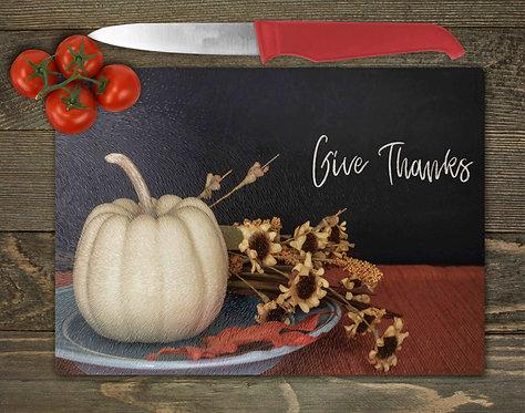 Give Thanks Cutting Board- 8x11