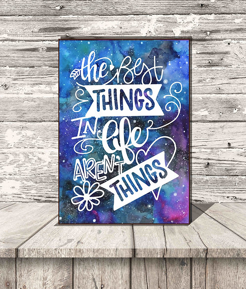 The Best Things In Life Aren't Things Box Sign-5x7 Shelf Decor