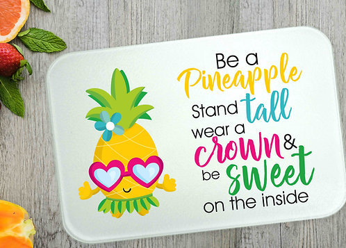 "Be A Pineapple Large Cutting Board- 15""x11"""