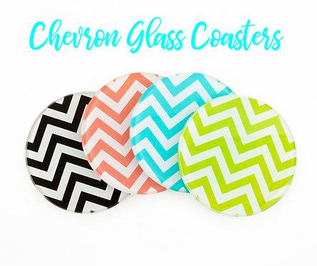Glass Chevron Coasters