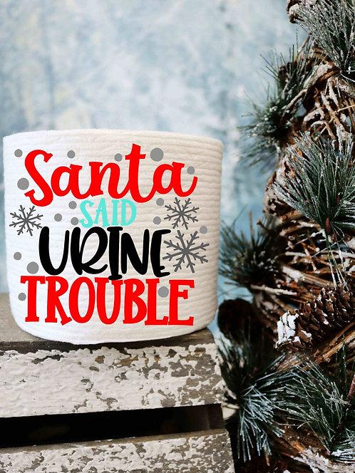Santa Said Urine Trouble-Toilet Paper Gag Gifts- Christmas Gag Gifts