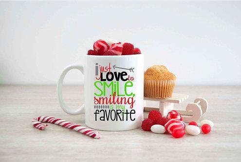 I Just Love To Smile Coffee Mug-15oz