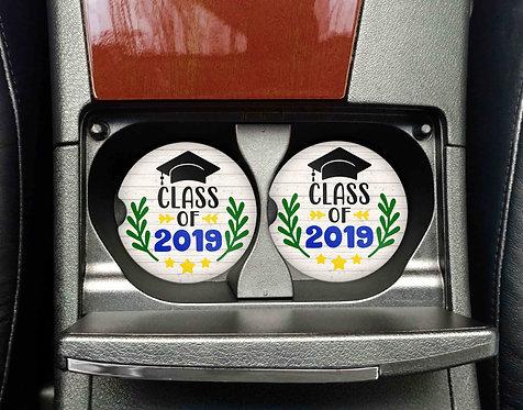 Class Of 2019 Car Coasters- Sandstone Car Coaster