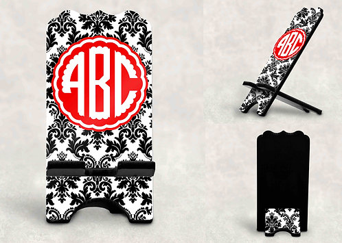 Monogrammed Phone Stand- Custom Cell Phone Stand- Medium Size