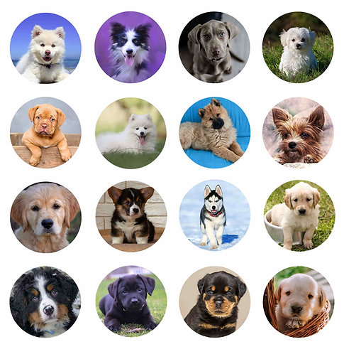 Puppies Pop-Up Phone Socket Grip Sublimation Templates- Set of 16 Design