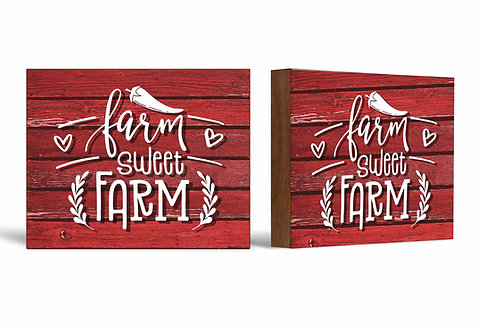 Farm Sweet Farm Box Sign-5x7 Shelf Decor