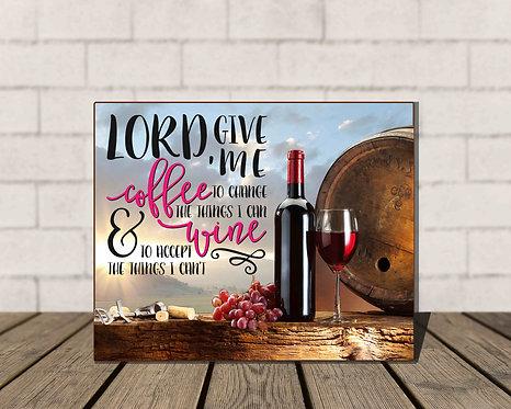 Lord, Give Me Coffee Box Sign-5x7 Shelf Decor