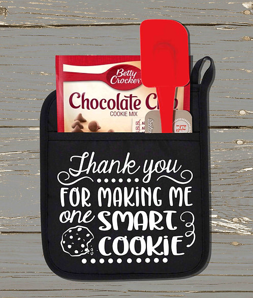 Thank You For Making Me One Smart Cookie Pot Holder Kit-Teacher Gift