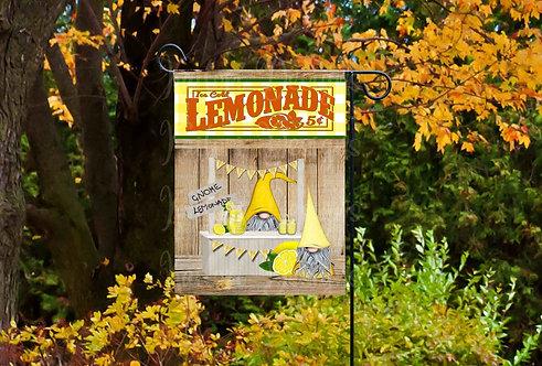 Gnome Lemonade Stand Garden Flag- 11x18