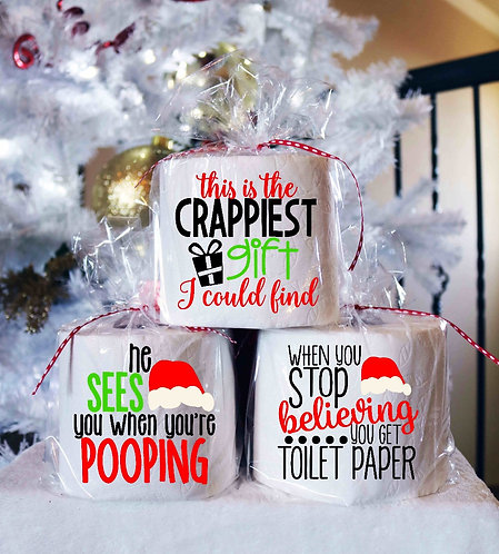 Toilet Paper Gag Gifts- Christmas Gag Gifts