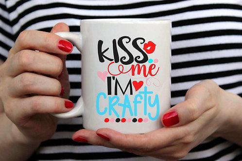 Kiss Me I'm Crafty 15oz Coffee Mug