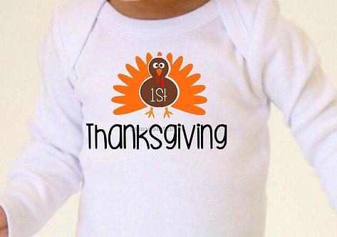 1st Thanksgiving Baby Bodysuit