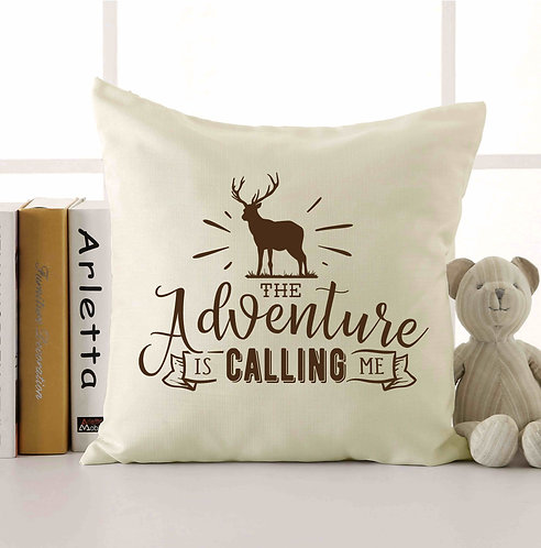 The Adventure Is Calling Me Throw Pillow 18x18