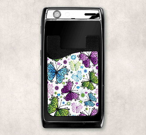 Butterfly Fantasy Cell Phone Card Caddy