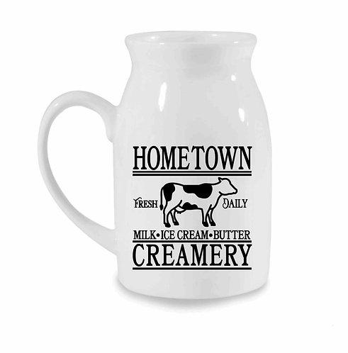 Hometown Creamery Vintage Style 10oz Milk Jug