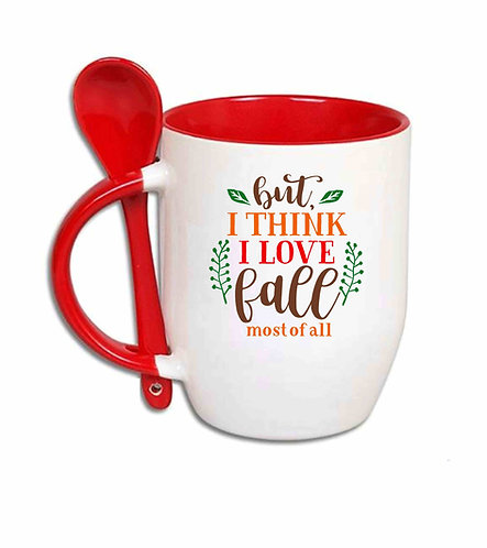But I Think I Love Fall 10oz spoon mug