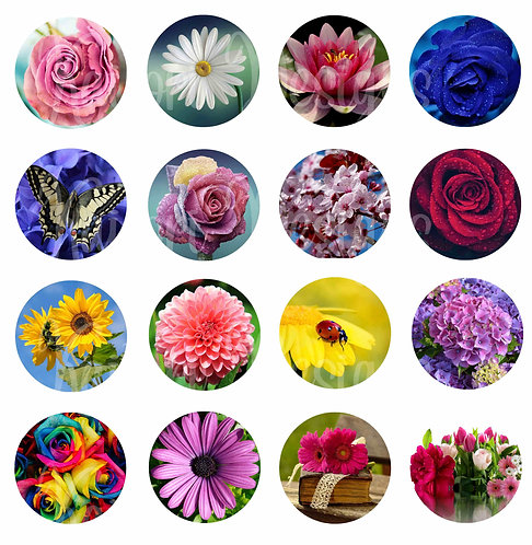 Flowers Pop-Up Phone Socket Grip Sublimation Templates- Set of 16 Designs