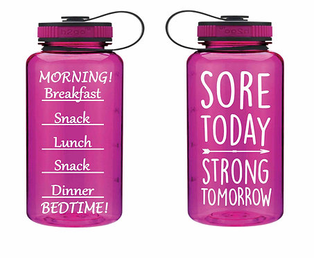 Sore Today-Strong Tomorrow 34oz Inspiration Water Bottle- Pink Bottle