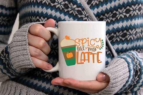 Spicy Like My Latte Coffee Mug-15oz