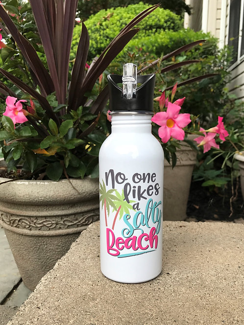 No One Likes A Salty Beach Water Bottle