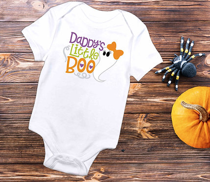 Daddy's Little Boo Baby Bodysuit- Baby Halloween Outfit